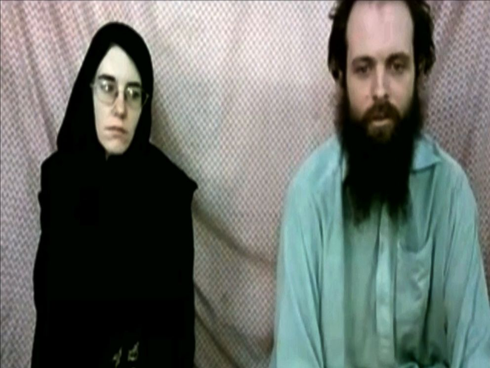 PHOTO: This frame grab from video provided by the Coleman family to the Associated Press shows Caitlan Coleman and Joshua Boyle.