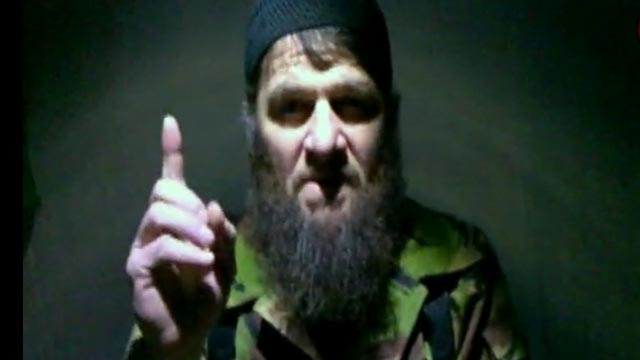 PHOTO: Insurgent leader Doku Umarov speaking in a video in which he claims responsibility for deadly suicide bombing at Russia's largest airport, released Feb. 7, 2011, by The Kavkaz Center, a website affiliated with Chechen rebels.