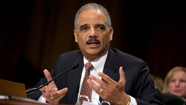 PHOTO: Attorney General Eric Holder testifies on Capitol Hill in Washington, March 6, 2013, before the Senate Judiciary Committee hearing: &quot;Oversight of the U.S. Department of Justice.&quot;