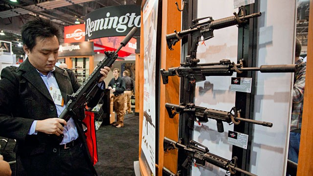 PHOTO: Accessories manufacturer at gun show
