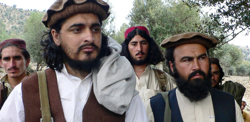 PHOTO: Pakistani Taliban chief Hakimullah Mehsud, left, is seen with Waliur Rehman during his meeting with media in Sararogha, a Pakistani tribal area of South Waziristan along the Afghanistan border, Oct. 4, 2009.