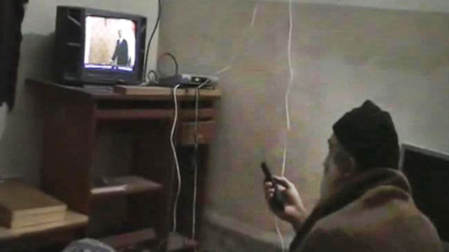 PHOTO: This undated image from video, seized from the walled compound of al-Qaida leader Osama bin Laden in Abbottabad, Pakistan, and released by the U.S. Department of Defense May 7, 2011, shows a man, i