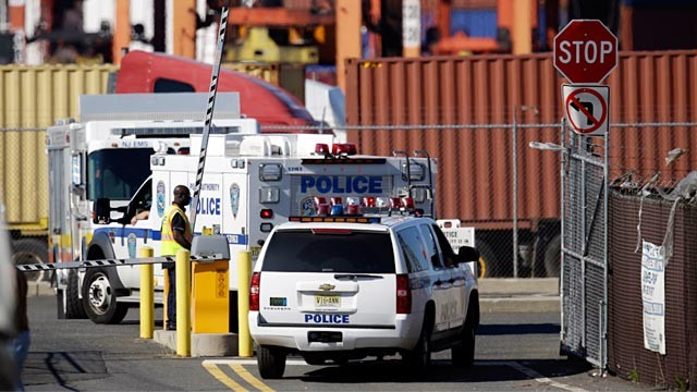 PHOTO: Police arriving at Port Newark
