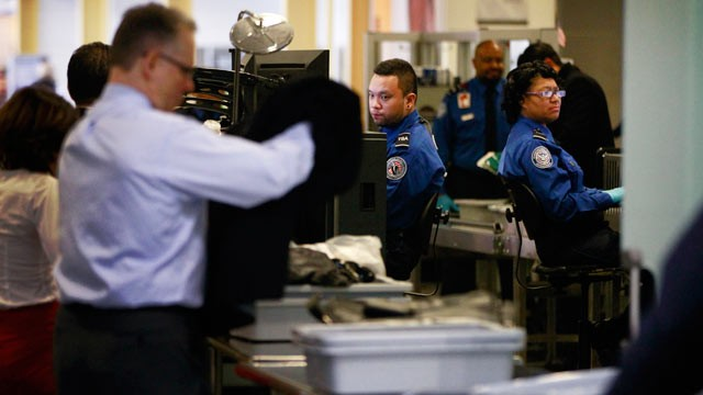 PHOTO: TSA workers screen passengers at Washington's Ronald Reagan National Airport, Feb. 8, 2012, after Homeland Security Secretary Janet Napolitano and TSA Administrator John Pistole announced a passenger pre-screening initiative.