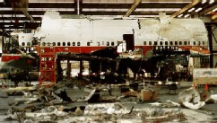 PHOTO: Reconstruction work was taking place in Calverton, N.Y., on TWA Flight 800 which crashed into the Atlantic Ocean off New York's Long Island, March 6, 1997.