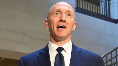 PHOTO: Carter Page, former foreign policy adviser for the Trump campaign, speaks to the media after testifying before the House Intelligence Committee, Nov. 2, 2017 in Washington, D.C.