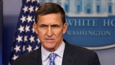 PHOTO: National security adviser General Michael Flynn delivers a statement daily briefing at the White House in Washington, Feb. 1, 2017.