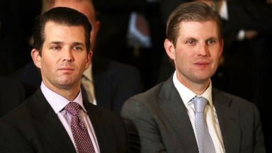 PHOTO: Donald Trump Jr. and Eric Trump, sons of President Donald Trump, attend the ceremony to nominate Judge Neil Gorsuch to the Supreme Court in the East Room of the White House, Jan. 31, 2017 in Washington, DC.