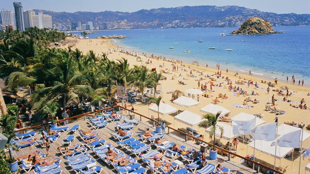 PHOTO: Condesa Beach filled with tourists is seen here in this undated photo, Acapulco, Mexico.