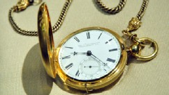 PHOTO: A pocket watch belonging to the 16th President of the US Abraham Lincoln is on display, April 11, 2012, at the Smithsonian Museum of American History in Washington, DC.