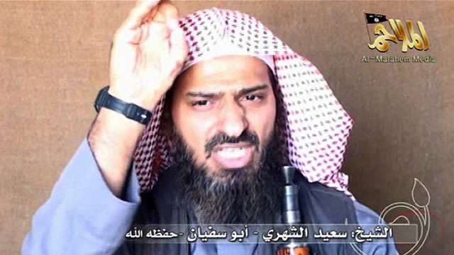 PHOTO: Al-Qaeda in the Arabian Peninsula's branch assistant commander Said al-Shihri speaks on video, Oct. 6, 2010.