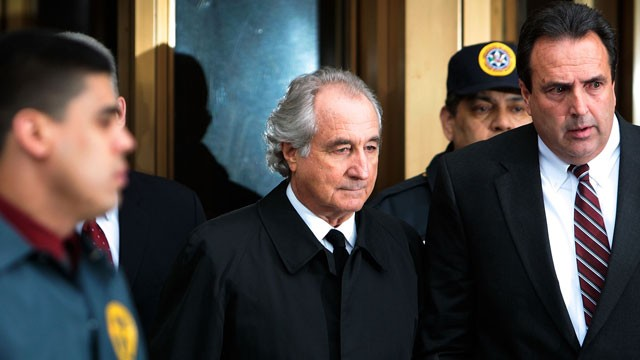 PHOTO: Bernard Madoff leaves Manhattan Federal court March 10, 2009 in New York City.