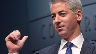 PHOTO: William Bill Ackman, founder and chief executive officer of Pershing Square Capital Management LP, speaks during a presentation in New York, U.S., on Dec. 20, 2012.
