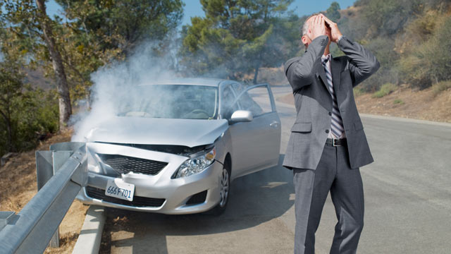 PHOTO: A damaged vehicle can lead to frustrating battles with insurance companies.