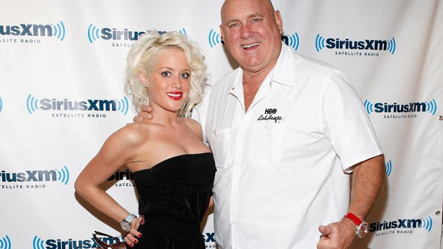PHOTO: Cami Parker and Bunny Ranch founder Dennis Hof visit SiriusXM Studio, Nov. 16, 2011 in New York City.