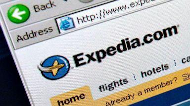 PHOTO: The Expedia.com home page is pictured on a computer screen in New York in this May 11, 2006 file photo.