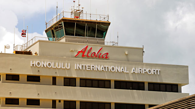 PHOTO: Honolulu International Airport, Honolulu, Hawaii.