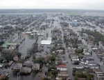 PHOTO: Flooded neighborhoods can be seen as the Coast Guard conducts initial Hurricane Katrina damage assessment overflights August 29, 2005, in New Orleans, Aug. 29, 2005.