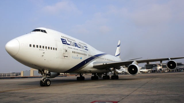 PHOTO: A Boeing 747 from Israel's national El Al carrier parks on the tarmac at Ben Gurion International airport on the outskirts of Tel Aviv, July 25, 2007.