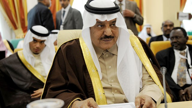 PHOTO: Crown Prince Nayef Bin Abdul Aziz attends the opening of the Arab Interior Minister's meeting, March 16, 2010 in Tunis.