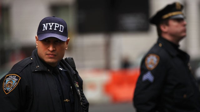 PHOTO: Members of the New York Police Department are seen Jan. 26, 2012 in New York City.