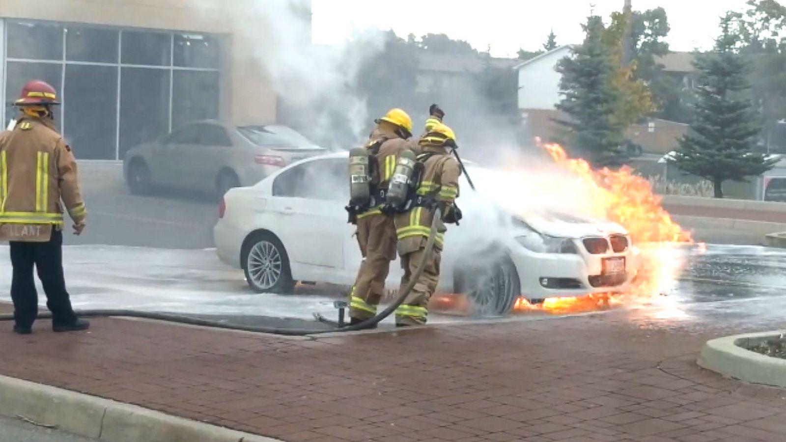 Bmw Recalls 1 Million Vehicles For Fire Risk Abc News Fire Pump Box Car  Fuse Box Caught Fire
