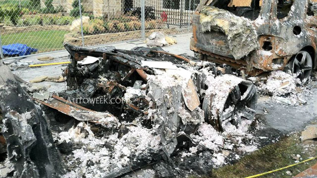 PHOTO: The remains of a Fisker Karma. Robert Baker, the chief fire investigator for Fort Bend County, Texas, told AutoWeek magazine that the Karma was in flames less