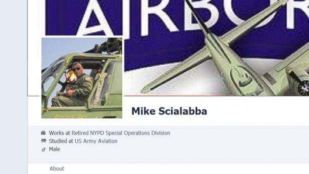 PHOTO: This image, shown as evidence by prosecutors in court documents, is from Michael Scialabbas Facebook page and shows him working as a helicopter pilot, prosecutors said.