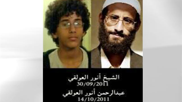 PHOTO: Al Qaeda leader Anwar al-Awlaki (right) and his son Abdulrahman al-Awlaki are seen in these undated photos that appe