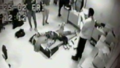 PHOTO: As seen in this image from a video, high-school student Andre McCollins was restrained face-down on a board before being shocked 31 times using skin shock therapy at the Judge Rotenberg Center in Massachusetts.