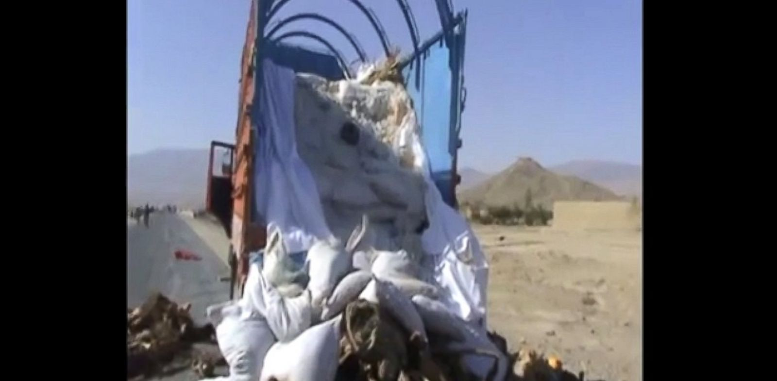 PHOTO: Security forces in Afghanistan released a short video of what American experts and analysts say is one of the biggest truck bombs ever discovered.