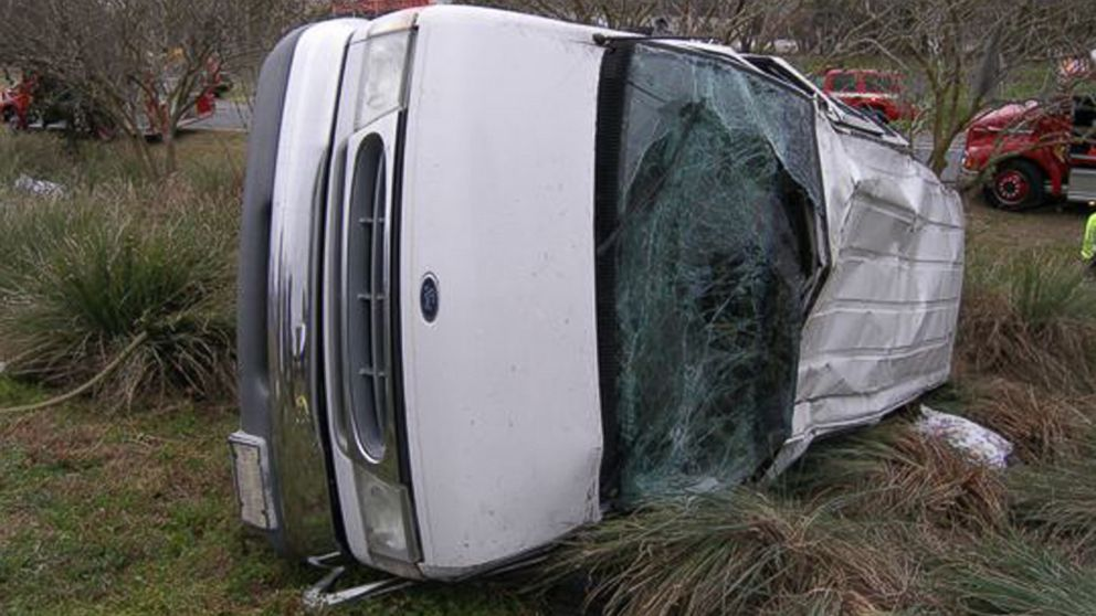 PHOTO: A crash near Lake City, Florida occurred, Feb. 21, 2014, killing two and injuring eight.
