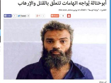 PHOTO: Two U.S. government officials confirm a front page story by the Libyan news outlet Alwasat featured an image of Ahmed Abu Khattala, the man the U.S. accused of participating in the 2012 Benghazi attack.