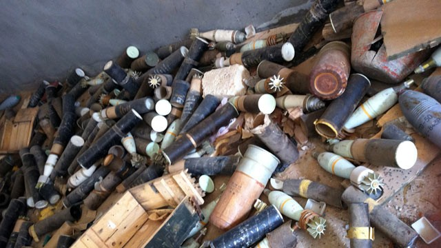 PHOTO: Experts told ABC News they are concerned that the weapons stockpiles ? including as many as 20,000 surface-to-air missiles ? are out in the open and could fall into the hands of terrorists.