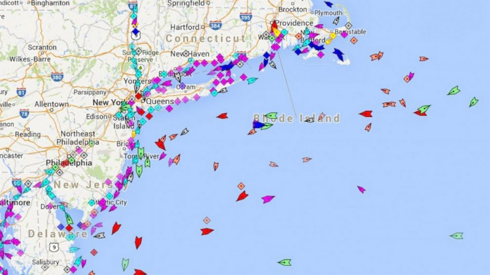 PHOTO: MarineTraffic.com is one of several websites that track intern