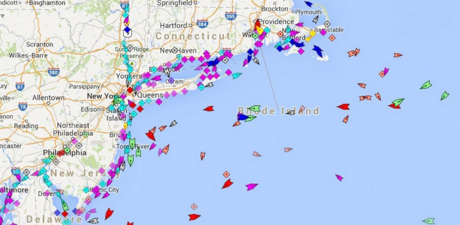 PHOTO: MarineTraffic.com is one of several websites that track international shipping vessels in real time.