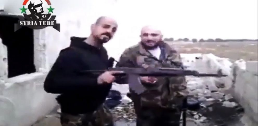 PHOTO: Two alleged members of a California-based gang claim to be in Syria fighting on support of embattled President Bashar al-Assad.