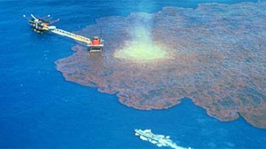PHOTO The blowout and oil spill off the Yucatan is shown in this file photo.