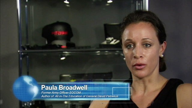 PHOTO: Paula Broadwell promoted a futuristic-looking, high-tech gun for a company that was trying to catch the eye of military purchasing officials.