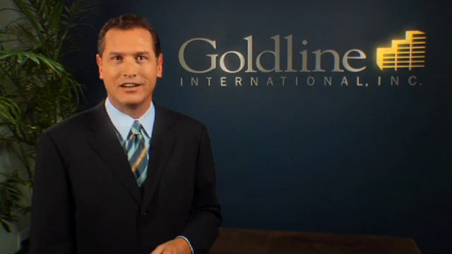"PHOTO: Goldline International CEO Scott Carter, frequently seen in the precious metal firms television advertisements, is charged with ""disseminat[ing] an untrue or misleading statement in connection with the sale of goods or services."""