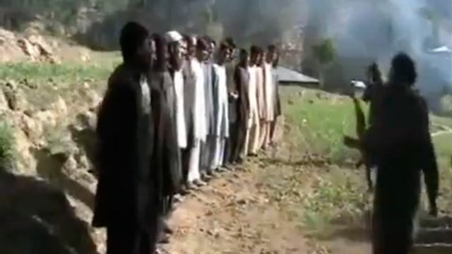 PHOTO:&nbsp;This video shows the execution of more than a dozen Pakistani policemen who were captured during the fighting.