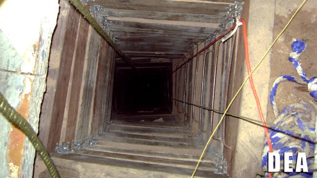 PHOTO: DEA agents found a drug tunnel in a one-story building in San Luis, Arizona, July 7, 2012.