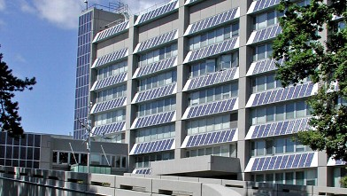 PHOTO: The United States Mission to the United Nations and Other International Organizations in Geneva is the first U.S. Diplomatic Post with a building-integrated solar power system.