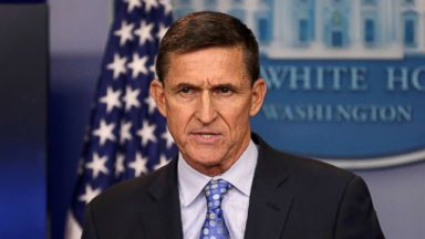 PHOTO: White House National Security Advisor Michael Flynn speaks at the White House, Washington, on February 1, 2017.