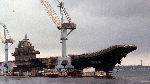"PHOTO: The former Soviet ""Varyag"" aircraft-carrier"
