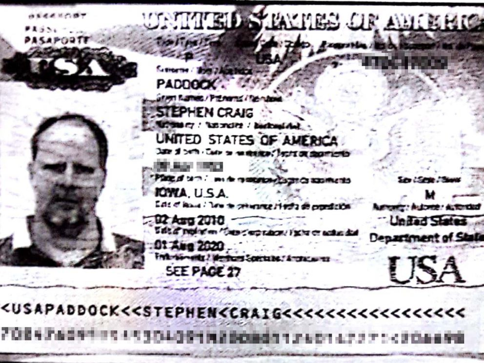 PHOTO: Stephen Paddock, 64, seen here in his passport photo, is the man suspected of opening fire on a crowd of concertgoers in Las Vegas on Sunday night.