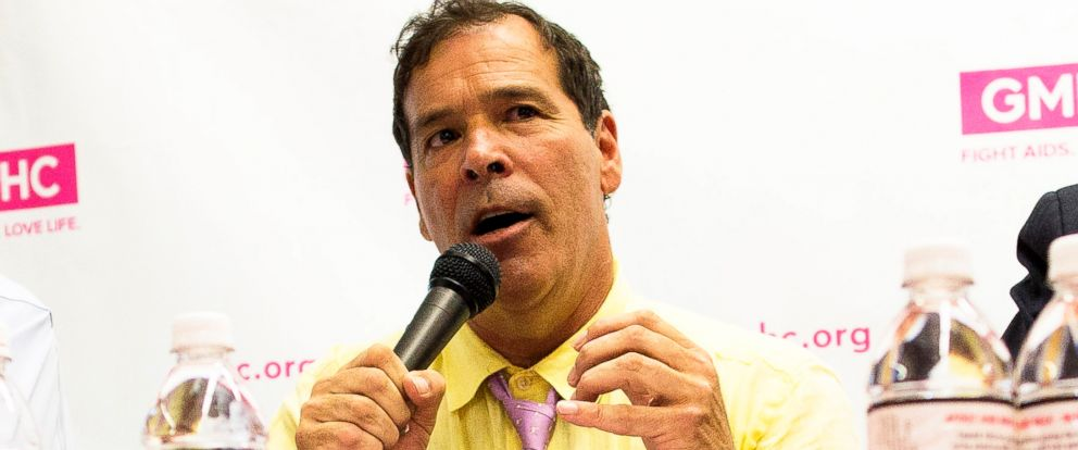 PHOTO: Randy Credico, who was a candidate in the New York mayoral race, speaks during a forum on HIV/AIDS at the GMHC headquarters in New York, July 23, 2013.