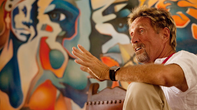 PHOTO: John McAfee, founder of computer security software company McAfee, at his property in Rodeo, N.M. on June 4, 2009.