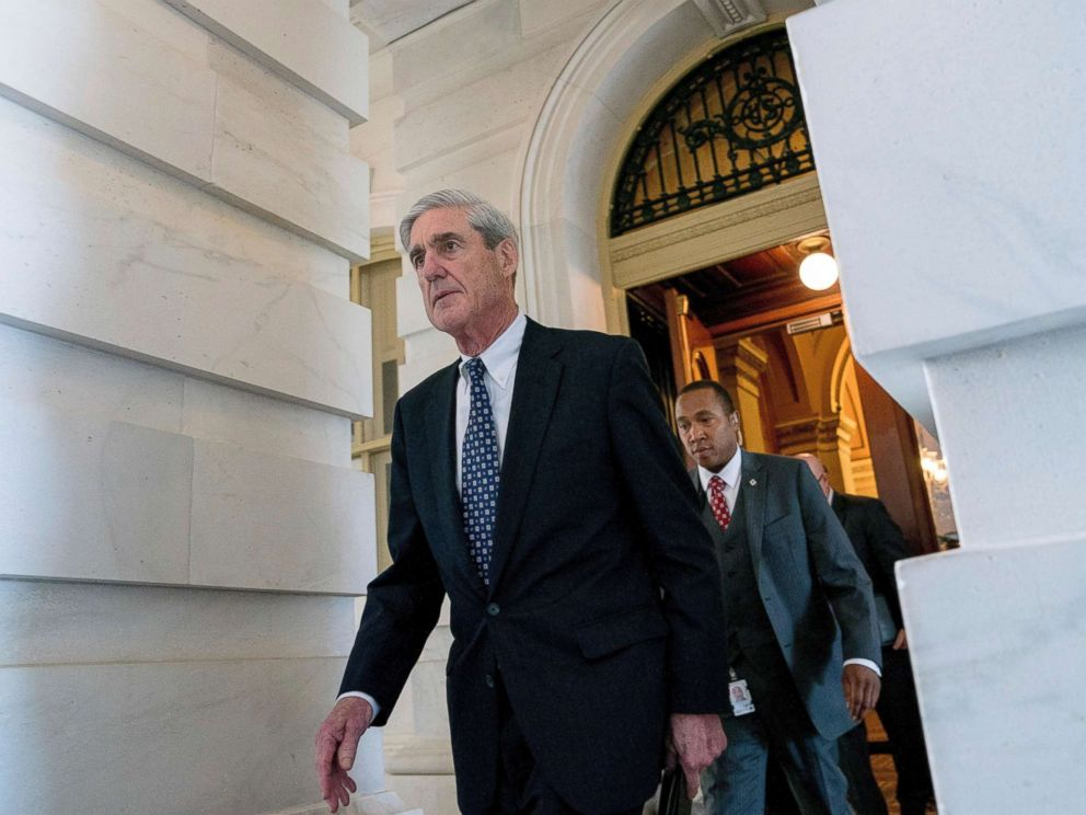 PHOTO: Special Counsel Robert Mueller departs Capitol Hill following a closed door meeting in Washington, June 21, 2017.