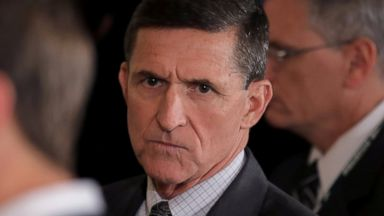 PHOTO: White House National Security Advisor Michael Flynn arrives to a press conference at the White House in Washington, Feb. 13, 2017.